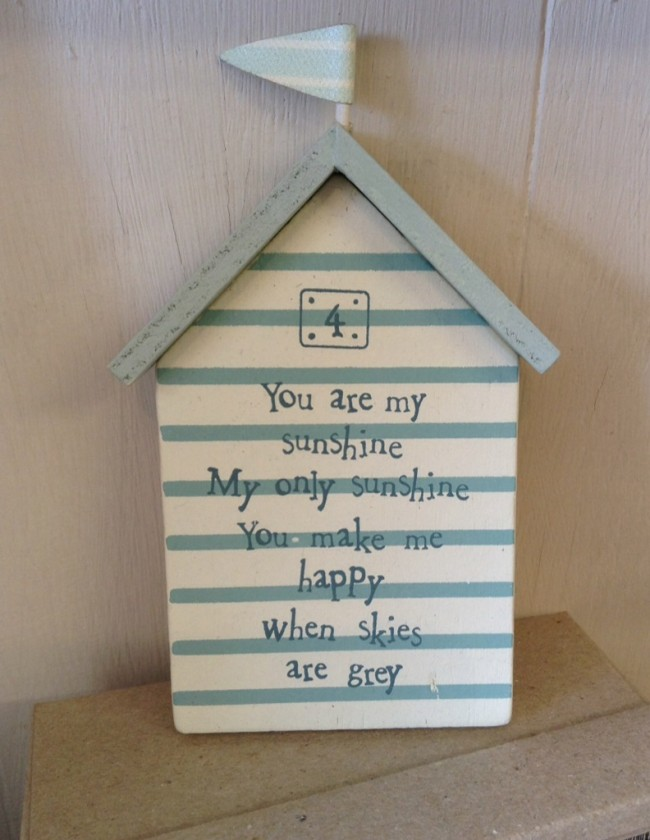 East Of India You Are My Sunshine Plaque